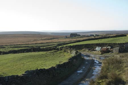 Looking west across the South Pennines near Warley Moor Reservoir