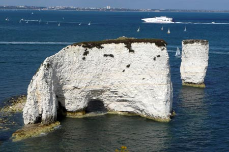 Photo from the walk - Studland and Old Harry Rocks from Sheel Bay