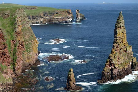 Photo from the walk - Stacks of Duncansby from Duncansby Head near John O'Groats