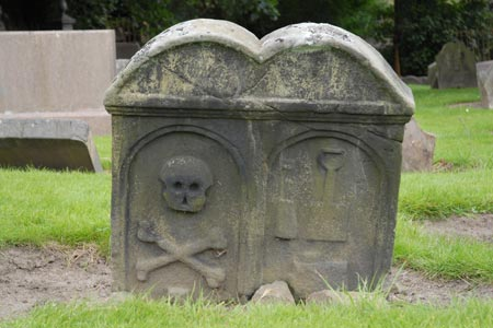 Culross Abbey Church - gravestone