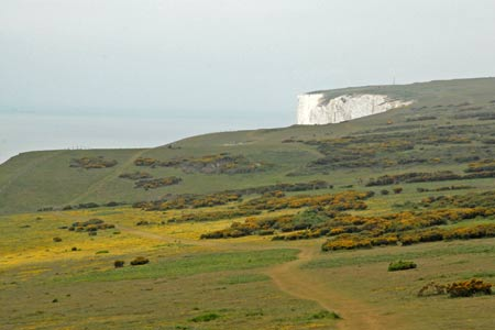 Heading west along the cliff tops from the Tennyson Monument