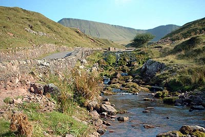 Afon Sawddle beside the track from Llanddeusant to Llyn y Fan Fach