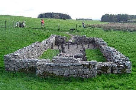 Hadrian's Wall - Mithraeum Temple at Brocolitia Roman Fort