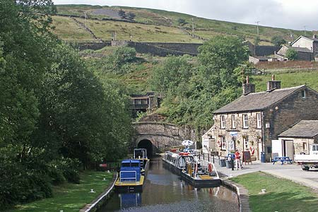 The Marsden end of the Standedge Canal Tunnel