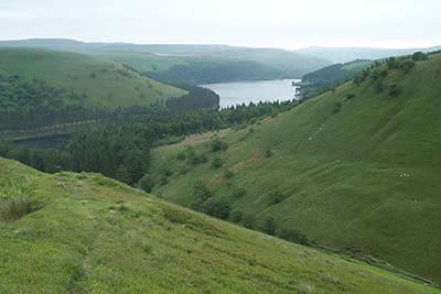 Linch Clough offers views to Howden Reservoir