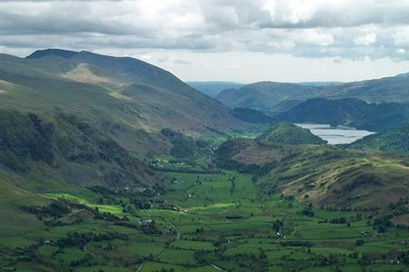 Helvellyn (Left) and Thirlmere from Blencathra