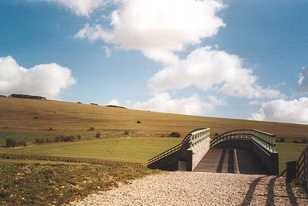South Downs Way- new footbridge near Itford Farm