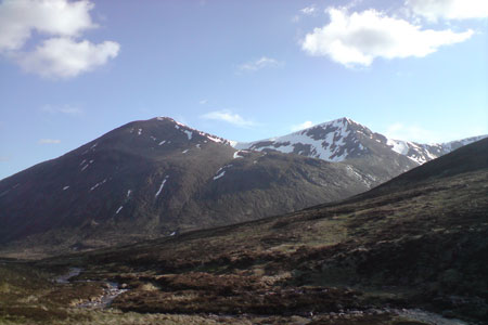Cairn Toul from Pools of Dee