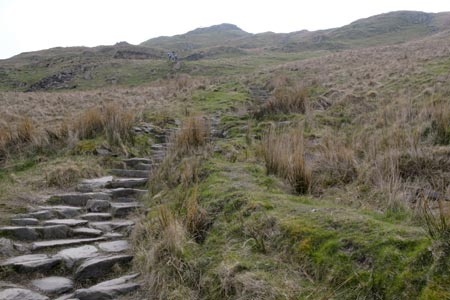 The final climb up to the Summit of Wansfell Pike
