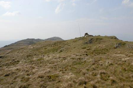 Summit of Wansfell & a radio ham in the view