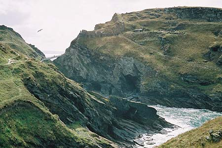 Tintagel Castle is the focus of many legends