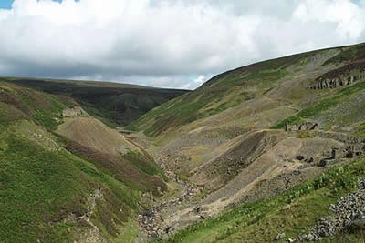 Upper Gunnerside Gill & view to Bunton Mine