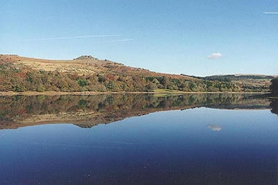 Leather Tor reflected in Burrator Reservoir