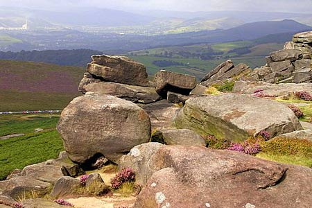 From Stanage Edge towards Castleton