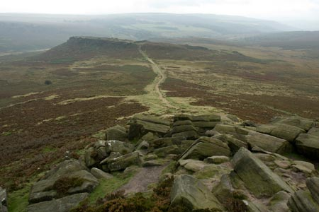 Photo from the walk - Higger Tor & Burbage Rocks from Longshaw