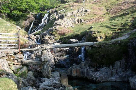 Slab Bridge in Cwm Llan
