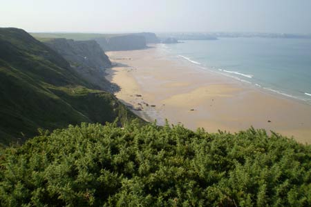 Watergate Bay north of Newquay