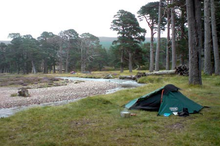 Wild camping at Derry Lodge