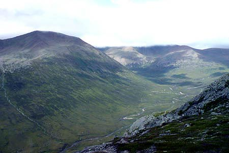 The Lairig Ghru view to the north