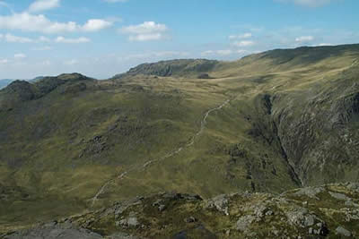 Photo from the walk - The Crinkle Crags from Great Langdale