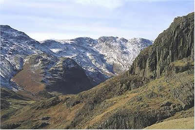 Pike o' Blisco and the Crinkle Crags from Lingmoor Fell