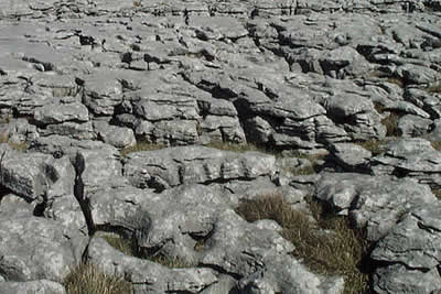 Upland limestone country on the east side of Wharfedale