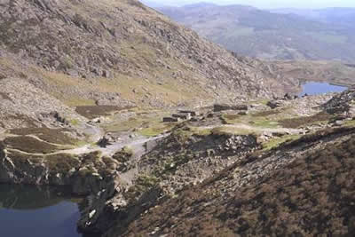 Old quarries below Moel Siabod