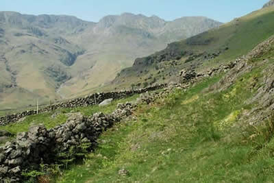Photo from the walk - Bowfell and Esk Pike from Old Dungeon Ghyll