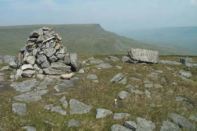 The summit cairn of Swarth Fell