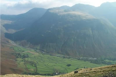 Yewbarrow is a superb viewpoint for upper Wasdale