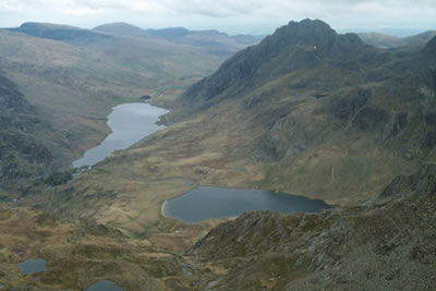 The ascent of Y Garn provides breathtaking views