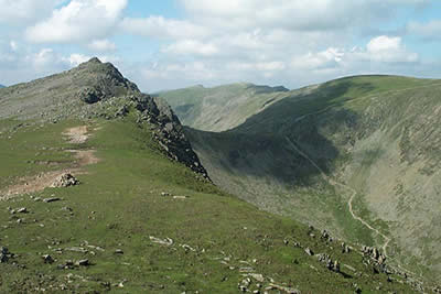 Dow Crag is one of the finest summits in Lakeland