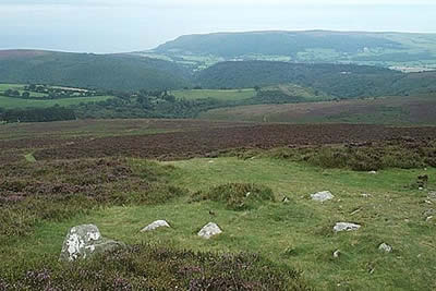 High moors of Exmoor provide views to the sea
