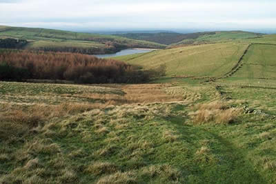Lamaload Reservoir & rolling countryside