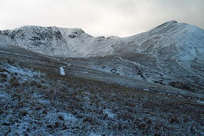 Catstye Cam and Helvellyn seen from the