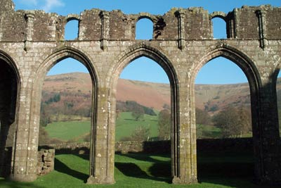 Photo from the walk - Cwmyoy & Hatterrall Hill from Llanthony Priory