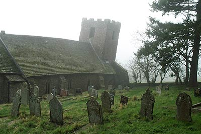 Church in Cwmyoy has suffered from subsidence