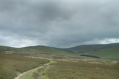 Rain clouds gather over the Berwyns