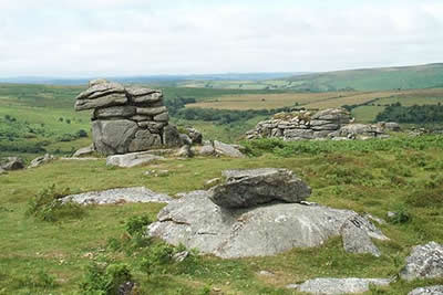 Granite outcrops near Saddle Tor