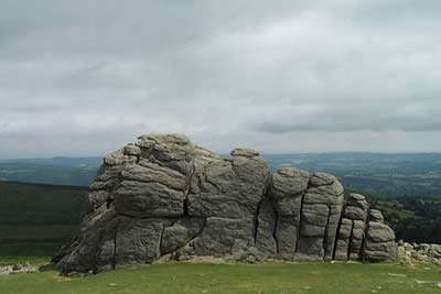 Haytor Rocks consists of two large granite outcrops