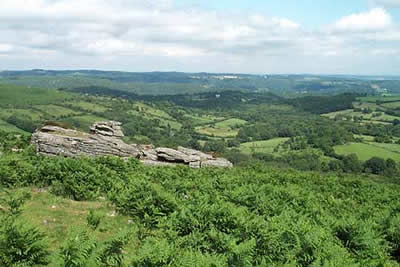 On a clear day the view from Hound Tor is exceptional