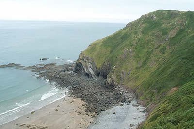 Eldern Point is reached by the South West Coast Path