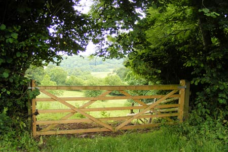 Gateway in Church Hill above Croscombe