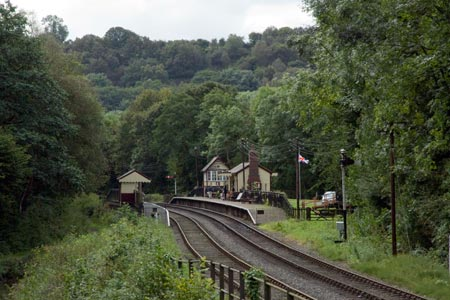 The beautifully restored Consall station in typical scenery