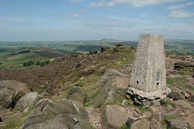 Trig point on the Roaches does not mark a summit