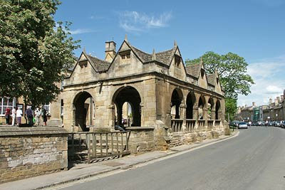 The celebrated stone built Market Hall in Chipping Campden