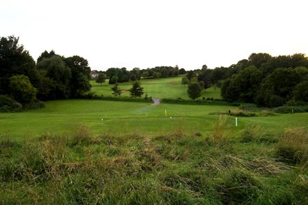 View crossing golf course near Broadsands
