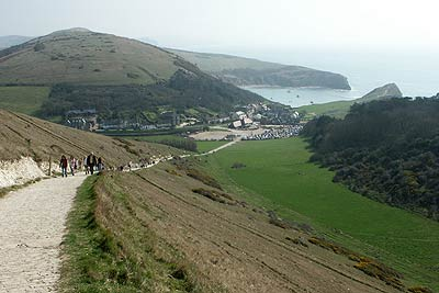 Photo from the walk - Durdle Door & White Nothe from Lulworth Cove
