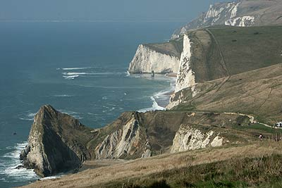 Looking west to Durdle Door and beyond