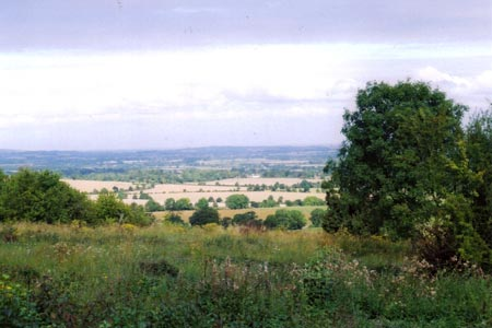 Over the Vale of Aylesbury from the Ridgeway on Lodge Hill